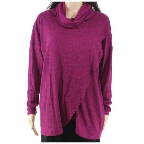 Nally & Millie Women's Sweater Berry Purple Size Medium M Cowl Neck