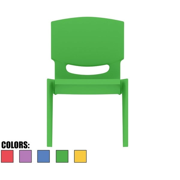 """2xhome - Green - Kids Size Plastic Side 10"""" Seat Height Stackable Chair"""