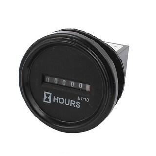 SYS-4 AC100V-250V Industrial Quartz Electronic Accumulate Cumulative Timer Black