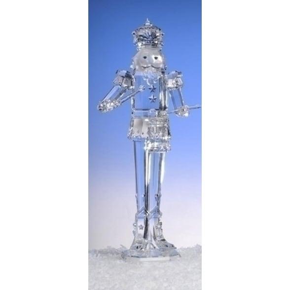 "17.5"" Icy Crystal Decorative Drummer Christmas Nutcracker"