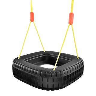 Gymax 2 Kids Classic Tire Swing Outdoor Play Durable