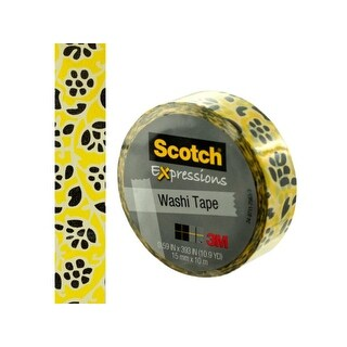 Scotch Expressions Flowers Washi Tape - Pack of 24