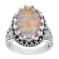 Sajen 10 ct Orange Opal Quartz Ring in Sterling Silver