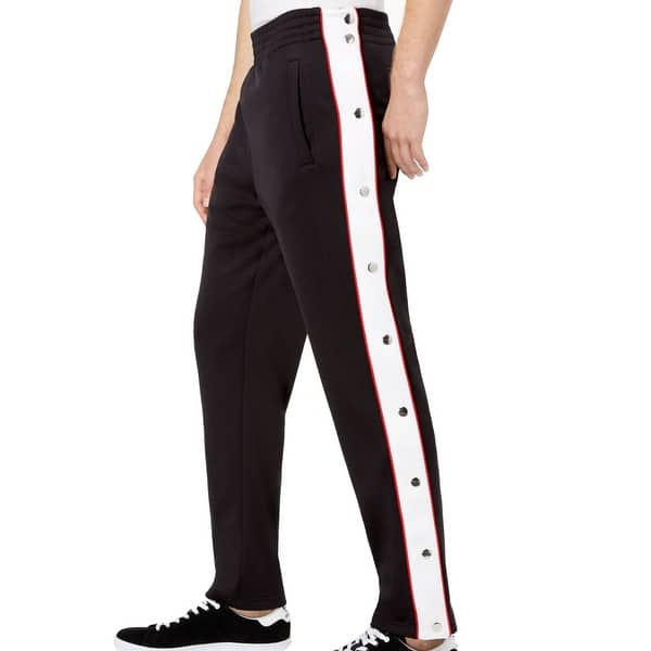 huge selection of buy cheap huge discount Shop INC White Mens Sport Snap-Button Striped Track Pants - Free ...