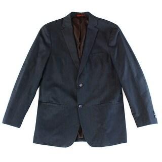ALFANI NEW Blue Mens Size Medium M Metallic Stripe Two Button Blazer