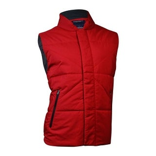 Nautica Men's Quilted Full-Zip Vest (L, Red)