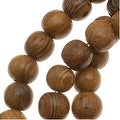 Round Wood Beads Brown 4-5mm /16 Inch Strand - Thumbnail 0