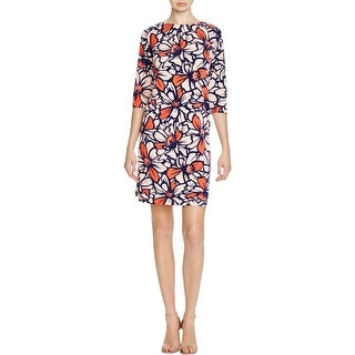 Taylor Womens Wear to Work Dress Floral Print 3/4 Sleeves - 10