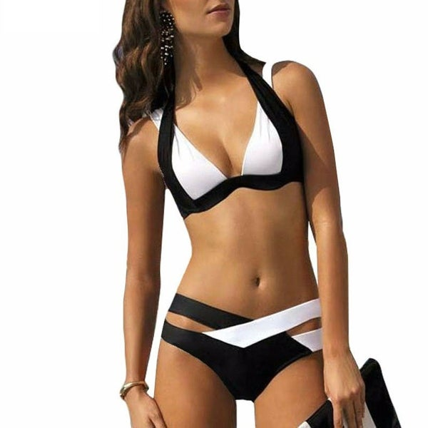256d90010abc4 Shop Summer Style Women Sexy Bikini Set Push Up Swimsuits Swimwear Cross  Bandage Best Soft Bathing Suits - Free Shipping On Orders Over  45 -  Overstock - ...