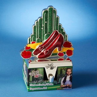 """7"""" Wizard of Oz Ruby Red Slippers and Emerald City Christmas Stocking Hanger"""