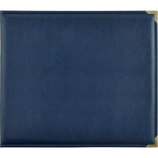 "Kaisercraft Leather D-Ring Album 12""X12""-Navy"