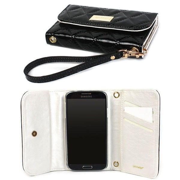 JAVOedge Vintage Quilted Wallet Case for the Samsung Galaxy S3 (Black) - Black