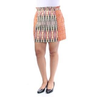 RACHEL ROY $89 Womens New 1328 Orange Printed Mini A-Line Casual Skirt 12 B+B