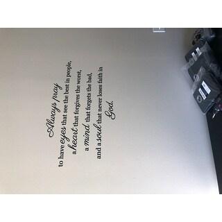 Always Pray' 36 x 22-inch Wall Decal