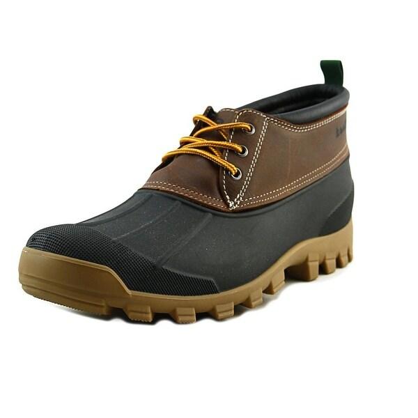 Kamik Yukon 3 Men Round Toe Leather Brown Rain Boot