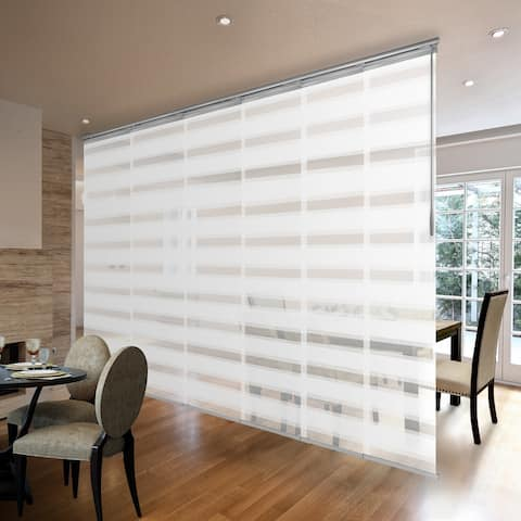 """InStyleDesign Pier White 3 to 6 Panel Single Rail Panel Track, Panel width 23.5"""""""