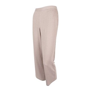 Alfred Dunner Womens Petite Pull-On Pants Fawn - 8P Short