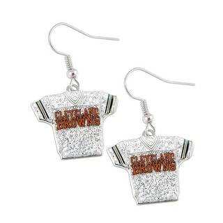 NFL Cleveland Browns Glitter Jerseys Sparkle Dangle logo Earring Set Charm Gift