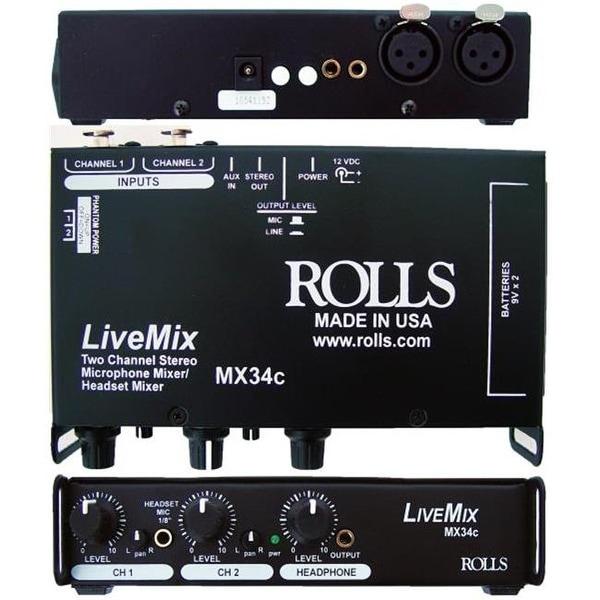 ROLLS MX34C Live Mix