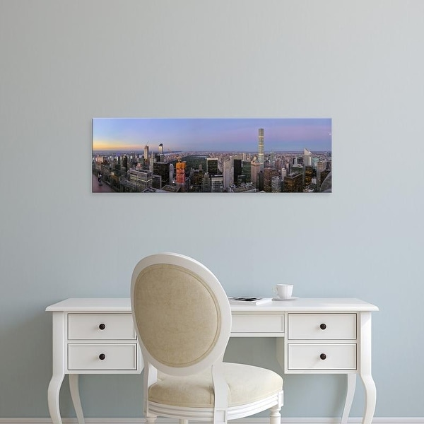 Easy Art Prints Panoramic Image 'Skylines from Top of the Rock, Manhattan, New York City, New York State' Canvas Art