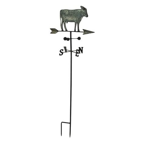 Urban Farmhouse Galvanized Zinc Finish Dairy Cow Weathervane Garden Stake