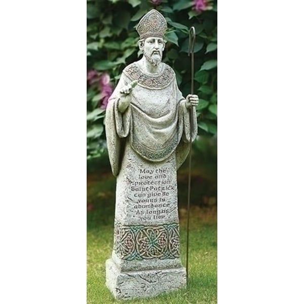 "26.5"" Joseph's Studio Saint Patrick with Irish Prayer Religious Outdoor Garden Statue - N/A"