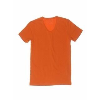 Zara Basic Mens Slim Fit V-Neck T-Shirt - S