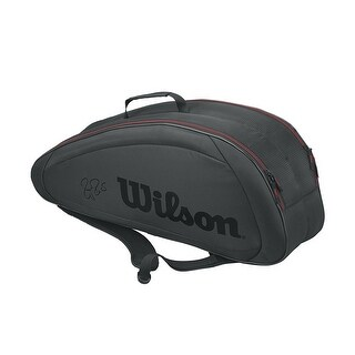 Wilson Federer Team Tennis Bag (Black/6-Racket Bag)