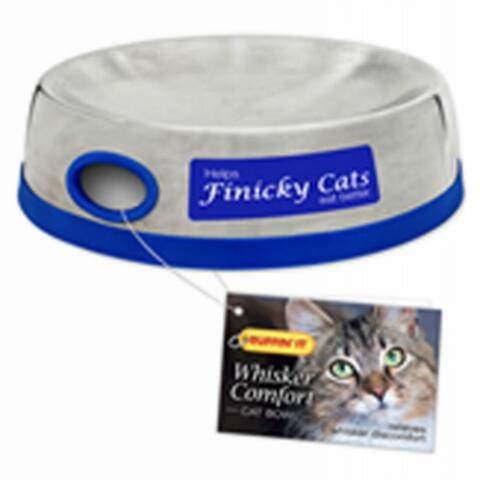 Ruffin' It 19010 Whisker Comfort Feeding Cat Bowl, Stainless Steel