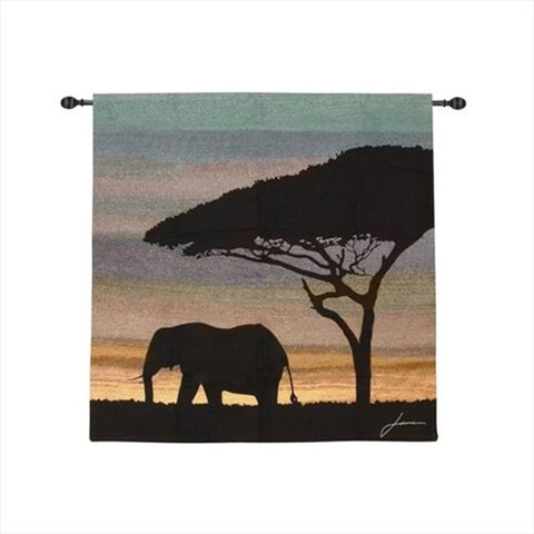 Savanna I Tapestry Wall Hanging Square 40 X 40 in.