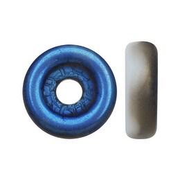 Czech Glass, Flattened Wheel Beads 6mm, 19 Gram Tube, Chalk Matte Azuro