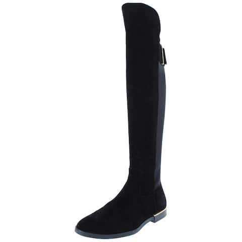 869e100c529d Calvin Klein Womens Priya Over-The-Knee Boots Stretch Riding Boot