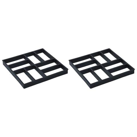 """vidaXL Pavement Moulds 2 pcs 15.7""""x15.7""""x1.6"""" Plastic"""