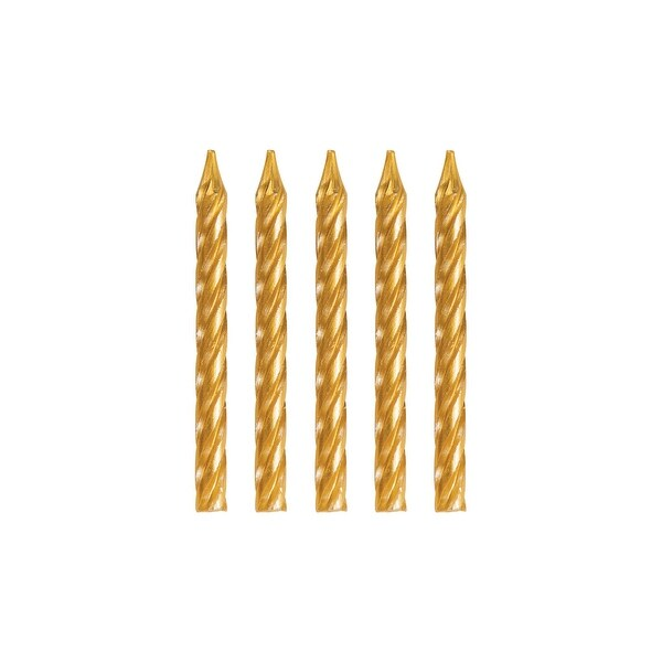 "Club Pack of 288 Gold Spiral Birthday Candles 2.25"" - N/A"