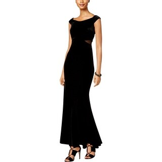 Xscape Womens Maxi Dress Velvet Illusion