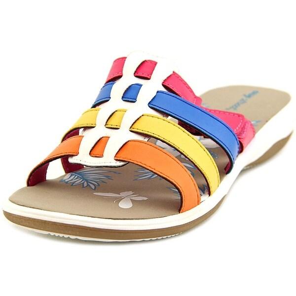 Easy Street Labelle WW Open Toe Synthetic Slides Sandal