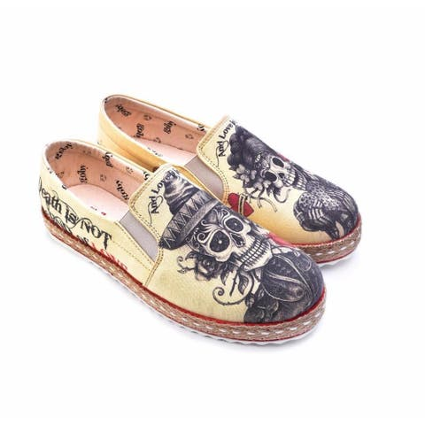 Halloween - Day of the Dead Slip on Sneakers - Goby Shoes