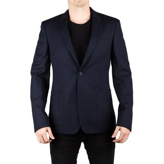 Prada Men's Notched Lapel Suit Sport Jacket Coat Blazer Navy Blue