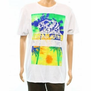 Fruit of the Loom NEW White Men Large L California Republic Graphic Tee
