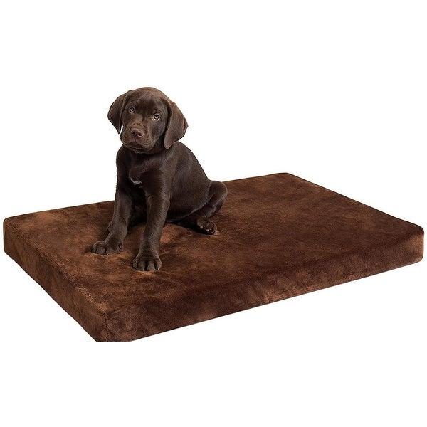 "BIRDROCK HOME Memory 3"" Memory Dog Bed - Ultra Soft Plush Pet Bed - Pet Mat. Opens flyout."