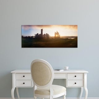 Easy Art Prints Panoramic Image 'Old oil refinery at dusk, Gasworks Park, Seattle, King County, Washington' Canvas Art