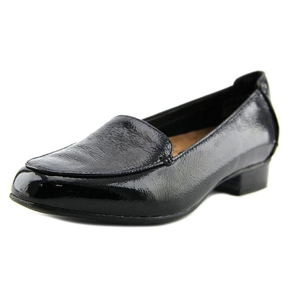 a128f0c0b99 Clarks Narrative Keesha Luca Women Round Toe Patent Leather Black Loafer