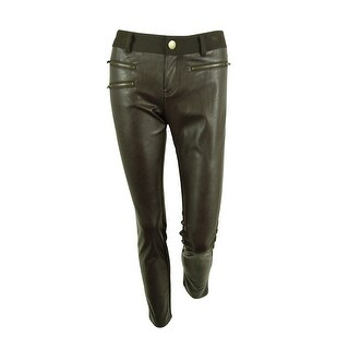 INC International Concepts Women's Faux-Leather Skinny Pants