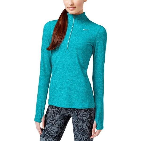 a7a4b19b952 Shop Nike Womens Stay Warm 1 4 Zip Pullover Dri-Fit Fitness - Free ...