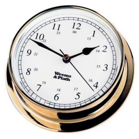 """6"""" White and Bronze Traditional Round Shaped Desk Clock"""