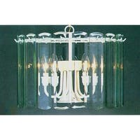 Volume Lighting V3038 5 Light 1 Tier Chandelier with Clear Beveled Glass Shade - textured white