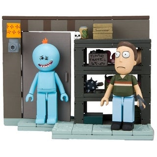 Rick and Morty Smith Garage Rack 109-Piece Construction Set w/ Meeseeks & Jerry - Multi