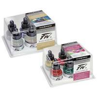 Daler-Rowney - FW Acrylic Artists Ink Set - Fluorescent Colors Set