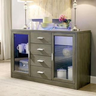 Furniture of America  Lumina Contemporary Light-up Serverr (Grey)