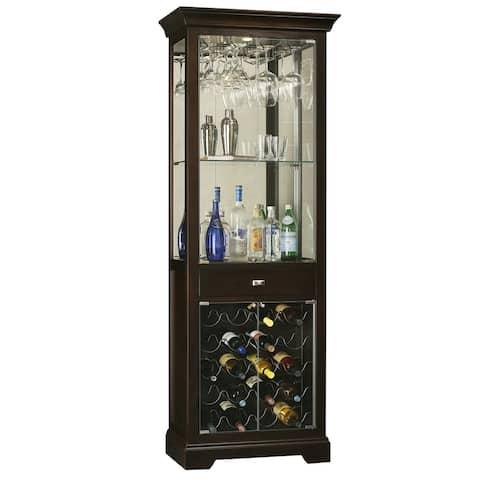 Howard Miller Black Solid Wood Liquor and Wine Cabinet